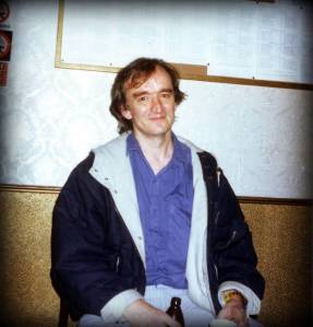 Martin Carthy after the Royalty Theatre gig, 1989.  Pic by Michael Hunter.