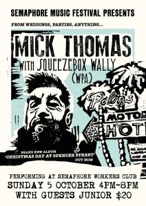 Mick Thomas A3 Poster